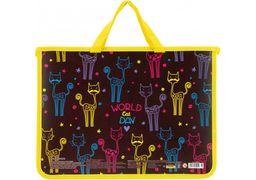 Портфель пластиковий на молнії Beauty CF30001-02 (1)