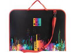 Портфель пластиковий на блискавці Colourful, А3 CF30003-01 (1)