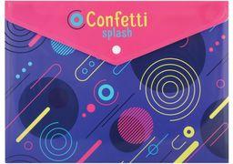 Папка-конверт А4 на кнопці Confetti, 180 мкм CF32012-09 (12)