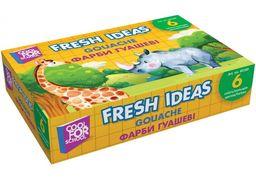 Фарба гуашева Fresh Ideas, 6 кольорів (по 10 мл) CF60180 (1)