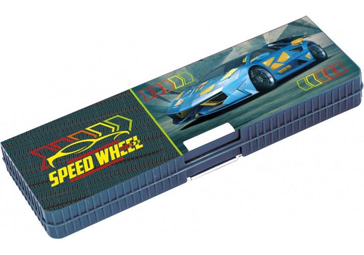 Пенал пластиковий на магніті, 2 відділення, Speed, 7022 CF85953 (1/96)