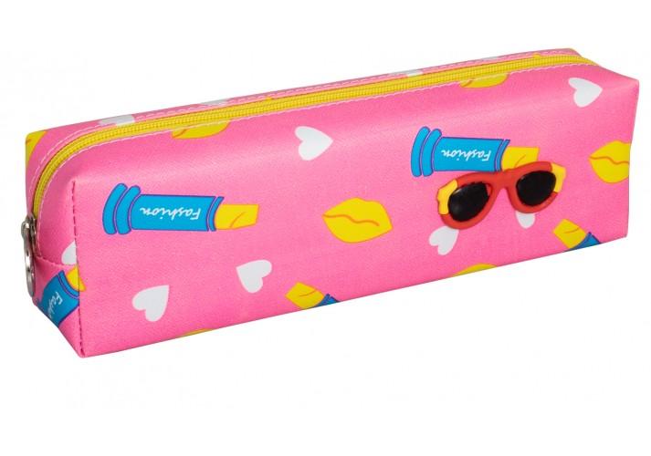 Пенал м'який Fashion, рожевий, прямокутний CF86647-02 (1/90/270)