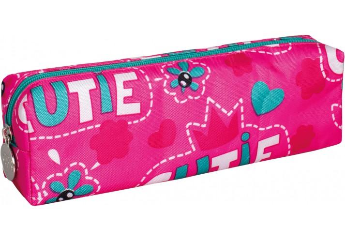 Пенал м'який Cutie, рожевий, прямокутний CF86648-01 (1/90/270)