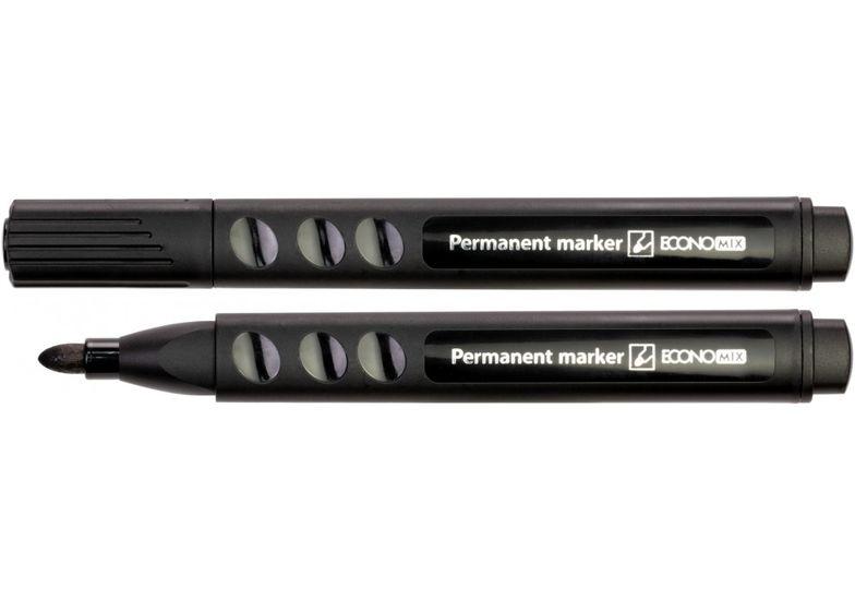 Маркер перманентный ECONOMIX 2-3 мм, черный E11612 (12)