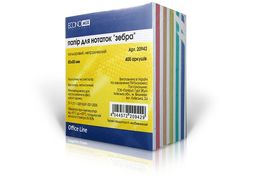 Папір для нотаток Economix, цветной, 85х85, 400 арк. ( E20942 ) E20942 (1)