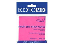 Стікери Economix, 75х75, рожеві, 100 арк. E20944-09 (12)