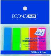 Стікери-закладки Economix, 12х45, пластикові E20945 (20)