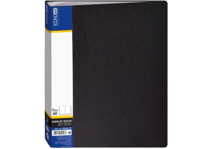 Папка пластикова з 60 файлами, чорна E30606-01 (1)
