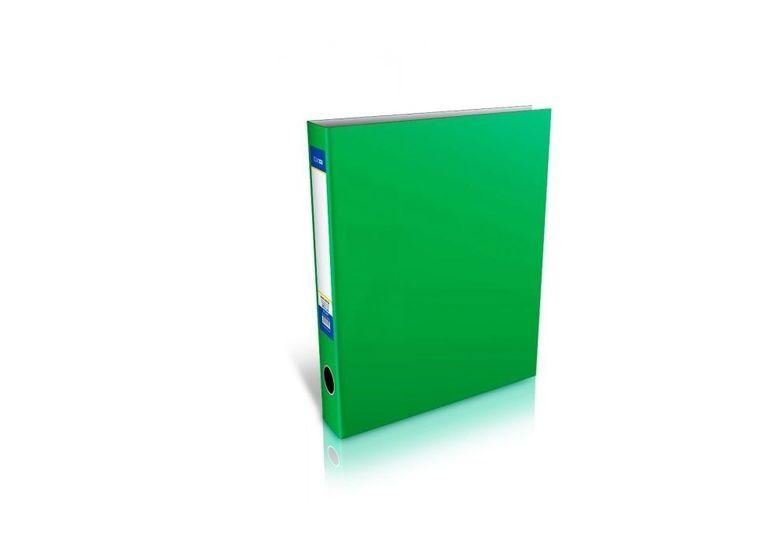 Папка-регистратор А4 на 4-O кольцах, 40мм, зеленая E30710-04 (1)