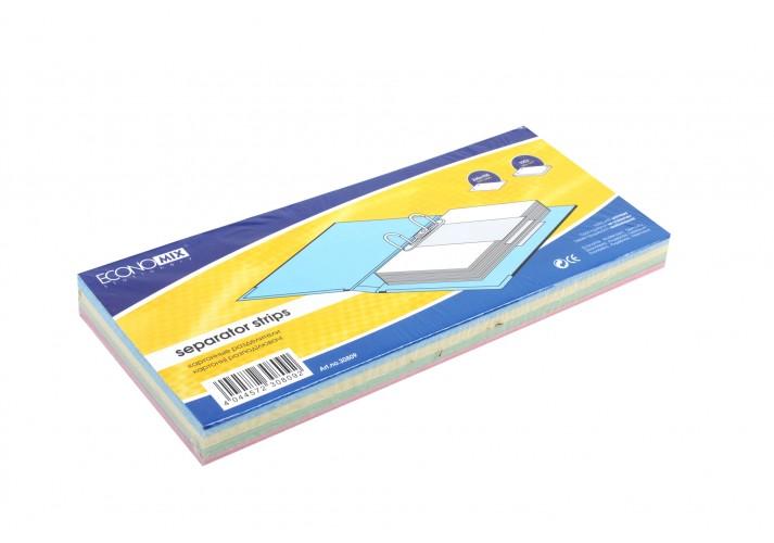 Роздільник аркушів 240*105 мм Economix, картон, кольоровий, 100 шт. E30809 (1)