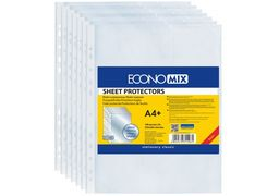 Файл для документів А4+ Economix, 30 мкм, фактура помаранч (100 шт/уп) E31106-50 (1)