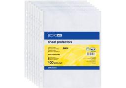 Файл для документів А4+ Economix, 40 мкм, фактура помаранч (100 шт/уп) E31107-50 (1)