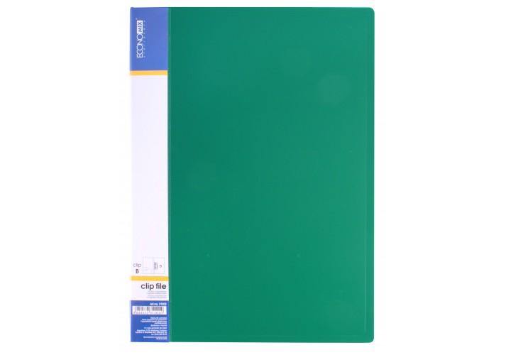 Папка з притиском А4 пластикова CLIP В, зелена E31202-04 (1)