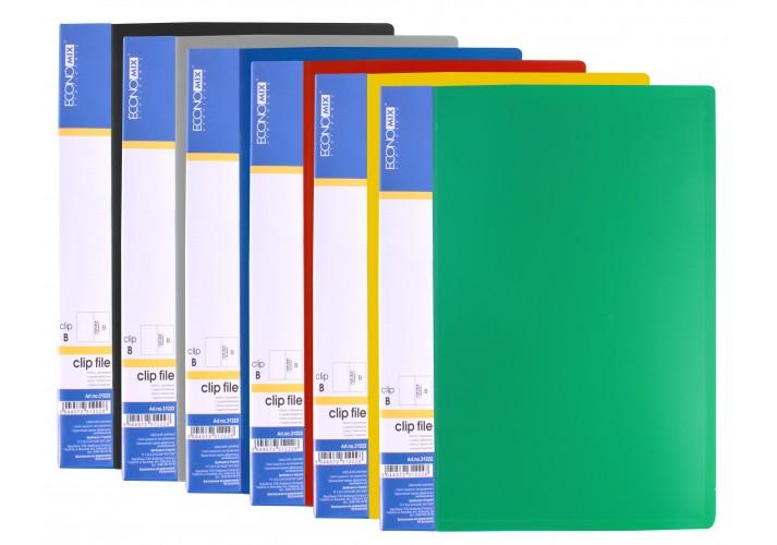 Папка з притиском А5 пластикова CLIP В , асорті ( E31222 ) E31222 (5)