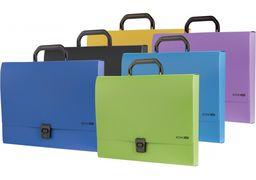 Портфель пластиковий A4 Economix на застібці, 1 відділення, синій E31607-02 (1)