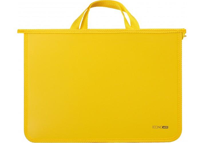 Портфель пластиковий  А4 на блискавці, жовтий E31630-05 (1)