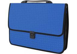 Портфель пластиковий A4 Economix  на застібці, 1 відділення, фактура Вишиванка, синій E31641-02 (1)