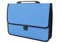Портфель пластиковий A4 Economix  на застібці, 1 відділення, фактура Вишиванка, блакитний E31641-11 (1)