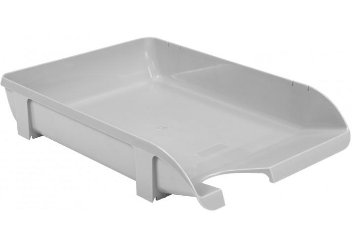 Лоток горизонтальний Economix, пластик, сірий непрозорий E31801-10 (1)
