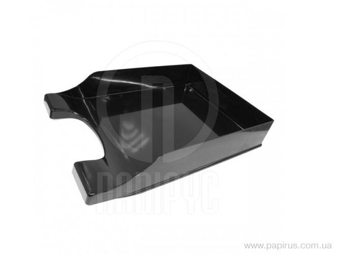 Лоток горизонтальний Economix Симетрія, чорний E31802-01 (1)