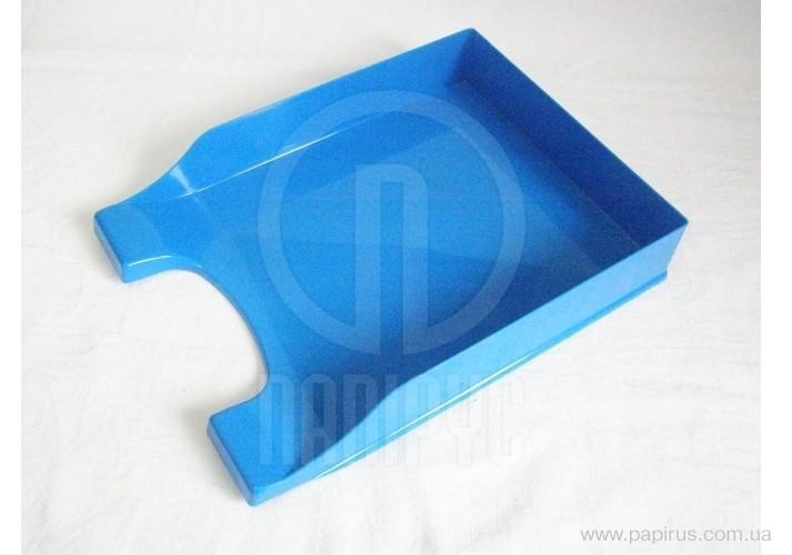 Лоток горизонтальний Economix Симетрія, пластик, блакитний непрозорий E31802-22 (1)