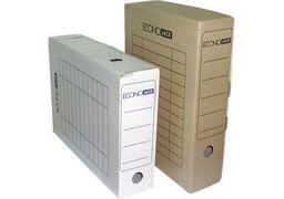 Бокс архівний Economix, А4, 80 мм, колір коричневий E32701-07 (20)