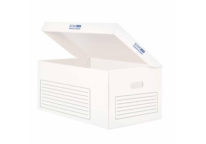 Архівний контейнер Economix, відкривається зверху, білий, 535х362х258 мм E32703-14 (20)