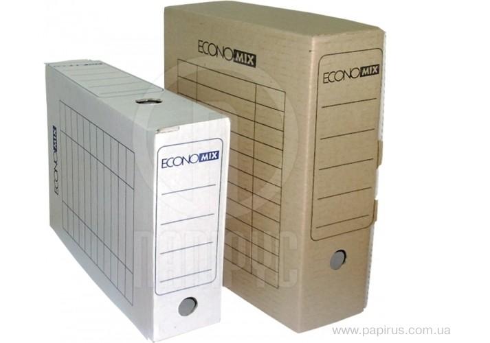 Бокс архівний Economix, А4,  100 мм, колір коричневий E32704-07 (20)