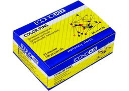 Шпильки кольорові 33 мм Economix, 100 шт. E41104 (10)