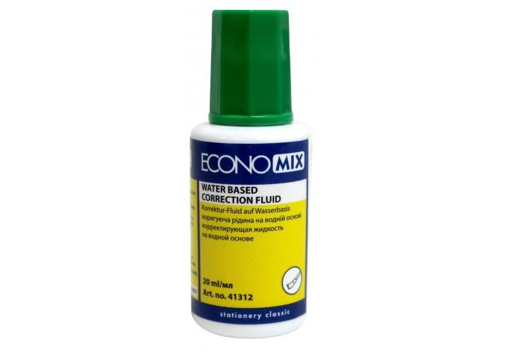 Коректор-рідина Economix, водна основа E41312 (10)