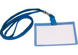 Бейдж горизонтальний, пластиковий, шнурок з притиском E41403 (10)