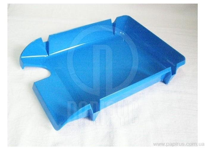 Лоток горизонтальний Компакт Economix, блакитний непрозорий E80600 (1)