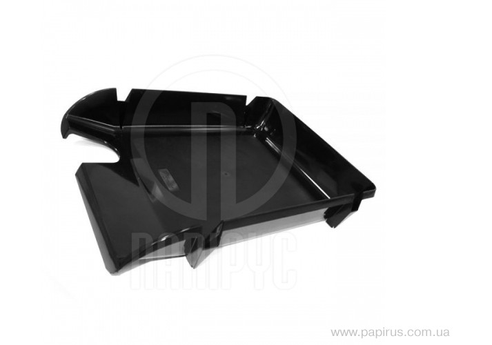 Лоток горизонтальний Economix Компакт, чорний непрозорий E80603 (1)