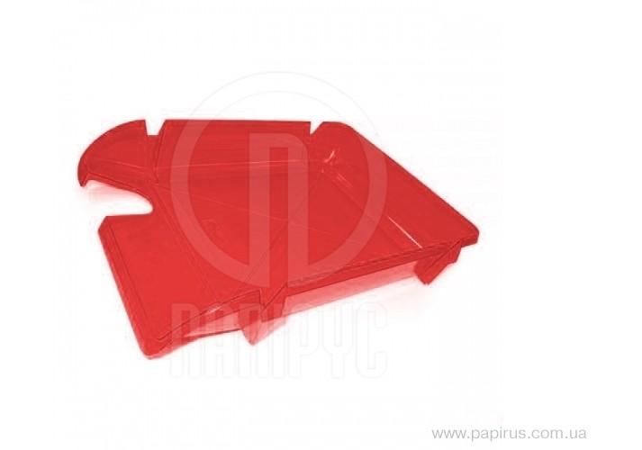 Лоток горизонтальний Economix Компакт, яскраво-червоний E80605 (1)