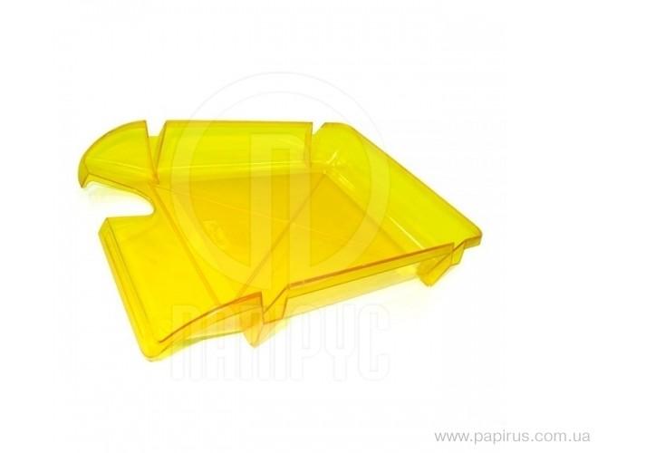 Лоток горизонтальний Economix Компакт, лимонний E80606 (1)