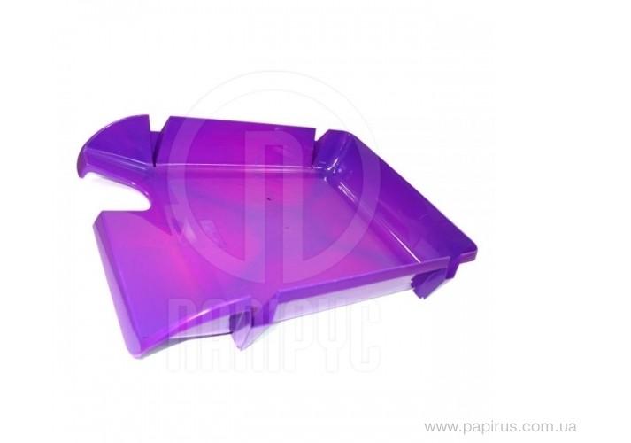 Лоток горизонтальний Economix Компакт, фіолетовий E80608 (1)