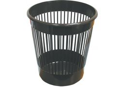 Кошик 10л для паперу, пластиковий, чорний E82061 (1)
