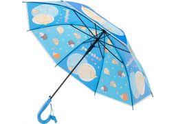 Зонт детский трость автомат Economix HEDGEHOG, голубой E98427 (1)