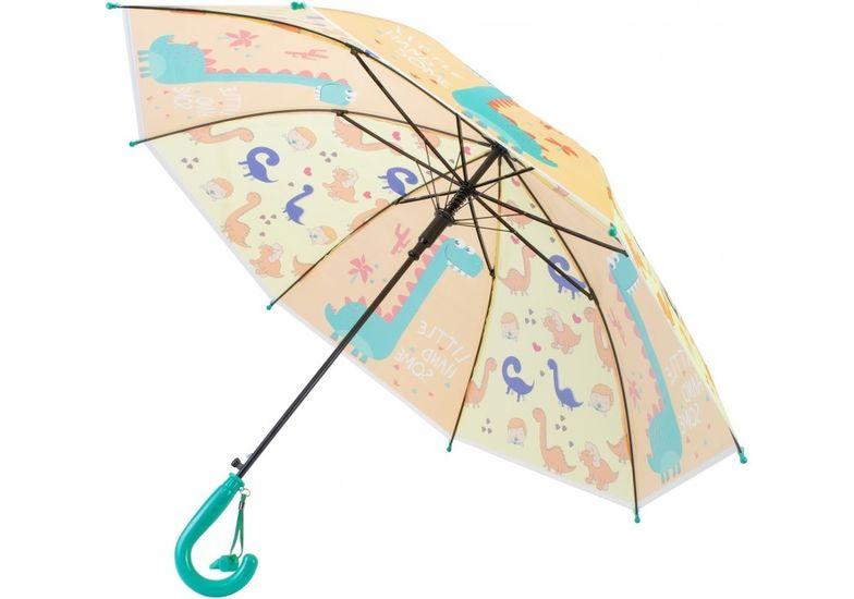 Зонт детский трость автомат Economix DINO, желтый E98428 (1)