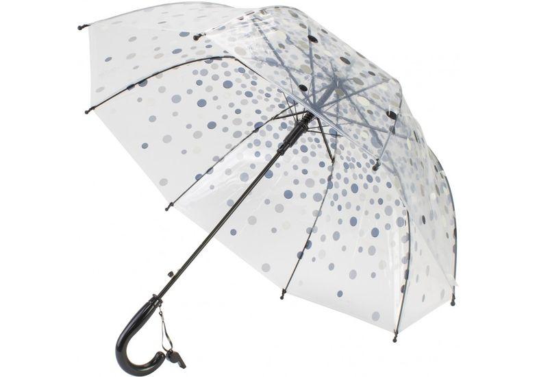 Зонт детский трость автомат Economix DOTTY, прозрачный E98429 (1)