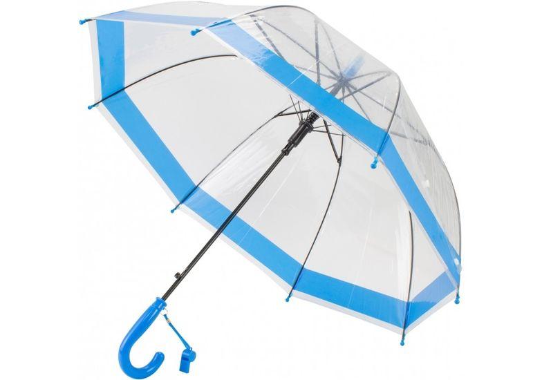 Зонт детский трость автомат Economix LITTLE BOY, прозрачный голубой E98431 (1)