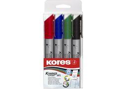 Набір маркерів для фліпчартів KORES XF2 2-3 мм, 4 кольори в блістері K21344 (1)