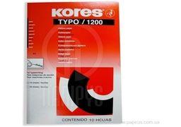 Папір копіювальний А4 TYPO/1200 Kores, 10 арк., чорний K78966 (1)