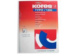 Папір копіювальний А4 TYPO/1200 Kores, 10 арк., синій  K79086 (1/10/130)