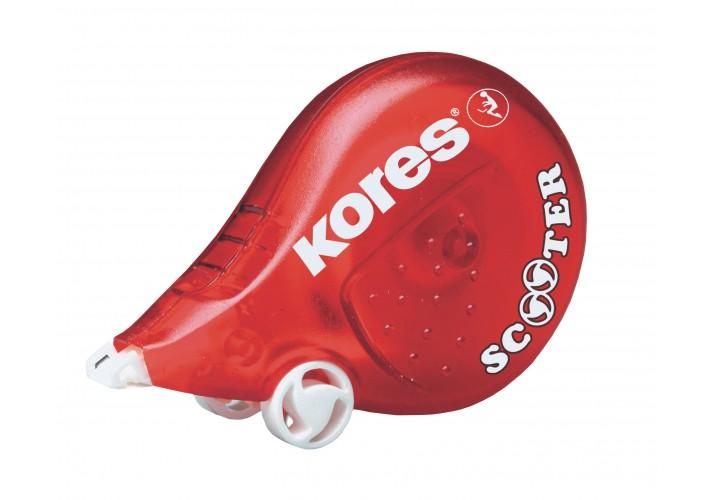 Коректор стрічковий Kores SCOOTER, 4,2 мм х 8м,  червоний K84823 (1)