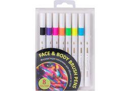 Набір фломастерів-пензликів для обличчя та тіла, 8 кольорів MX15235 (1)