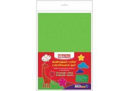 Набір кольорового картону з тисненням, А4, 9 арк, 9 кол MX21004 (10)
