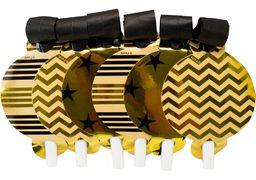 Набір з 6 язиків-гудків для свисту Gold&Silver фольговані, асорті MX354005 (1)