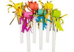 Набір з 6 язиків-гудків для свисту з китицями, кольори асорті MX355196A (1)