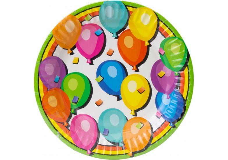 Набор тарелок бумажных Balloons, диаметр 17,78 см MX44355 (1)